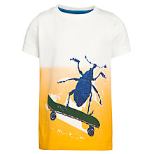 Buy John Lewis Boy Dip Dye Bug T-Shirt, Orange Online at johnlewis.com