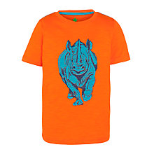 Buy John Lewis Boy Rhino T-Shirt, Orange Online at johnlewis.com