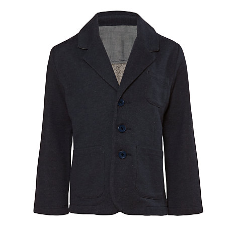 Buy Kin by John Lewis Boys' Jersey Blazer, Blue/White Online at johnlewis.com