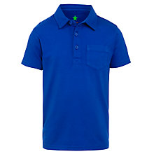 Buy John Lewis Boy Short Sleeve Polo Shirt, Blue Online at johnlewis.com