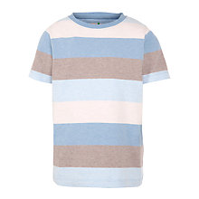 Buy John Lewis Boy Bold Stripe T-Shirt, Blue/Grey Online at johnlewis.com