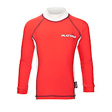 Buy Platypus Boys' Long Sleeve Panel Rash Vest, Red/White Online at johnlewis.com