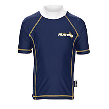 Buy Platypus Boys' Short Sleeve Rash Vest, Navy/White Online at johnlewis.com