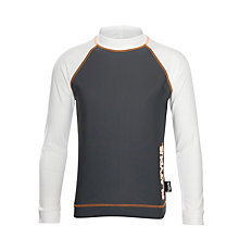 Buy Platypus Boys' Long Sleeve Rash Vest, White/Grey Online at johnlewis.com