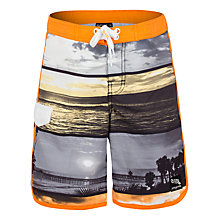 Buy Platypus Sunset Print Board Shorts, Orange/Grey Online at johnlewis.com