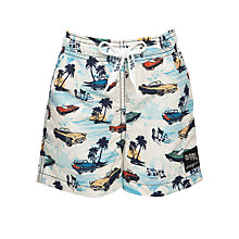 Buy Platypus Boys' Car Print Swim Shorts, Multi Online at johnlewis.com