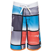 Buy Platypus Boys' Tie Dye Board Shorts, Multi Online at johnlewis.com