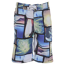 Buy Animal Boys' Tusky Graphic Print Board Shorts, Multi Online at johnlewis.com