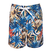 Buy Platypus Boys' Palm Print Board Shorts, Multi Online at johnlewis.com