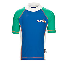 Buy Platypus Boys' Colour Block Logo Rash Vest, Navy/Green Online at johnlewis.com