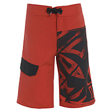 Buy Animal Boys' Taloon Logo Board Shorts, Red/Black Online at johnlewis.com