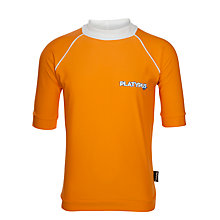 Buy Platypus Boys' Short Sleeve Rash Vest, Orange Online at johnlewis.com