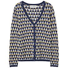 Buy Seasalt Tresillian Cardigan, Sailboat Jacquard French Navy Online at johnlewis.com
