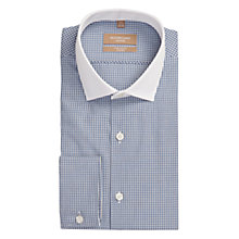Buy Richard James Mayfair Grid Check Shirt, Navy Online at johnlewis.com
