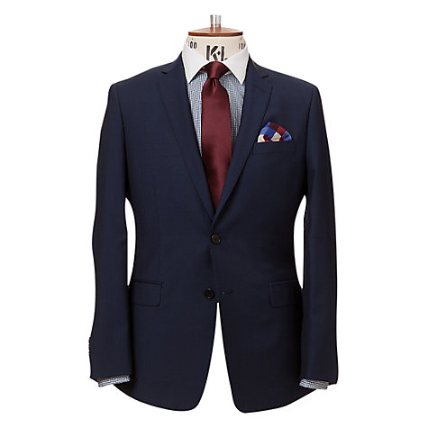 Buy Richard James Mayfair Wool Mohair Suit Jacket, Navy Online at johnlewis.com