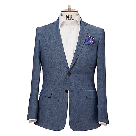 Buy Richard James Mayfair Pin Dot Jacket, Blue Online at johnlewis.com