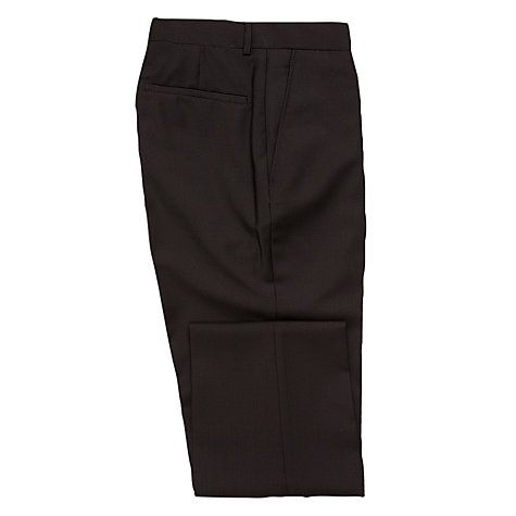 Buy Richard James Mayfair Plain Suit Trousers, Black Online at johnlewis.com