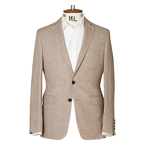 Buy Richard James Mayfair Pindot Linen Blazer, Taupe Online at johnlewis.com