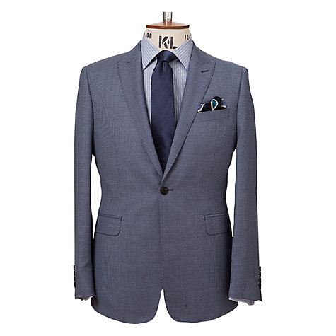 Buy Richard James Mayfair Birdseye Suit Jacket, Blue Online at johnlewis.com