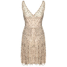 Buy Adrianna Papell Beaded Dress, Taupe/Pink Online at johnlewis.com