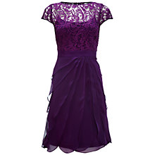 Buy Adrianna Papell Lace Bodice Dress, Eggplant Online at johnlewis.com