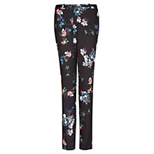 Buy Mango Belted Floral Print Trousers, Black Online at johnlewis.com