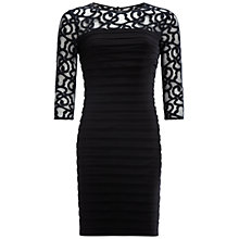 Buy Adrianna Papell Scroll Lace Sleeve Dress, Black Online at johnlewis.com