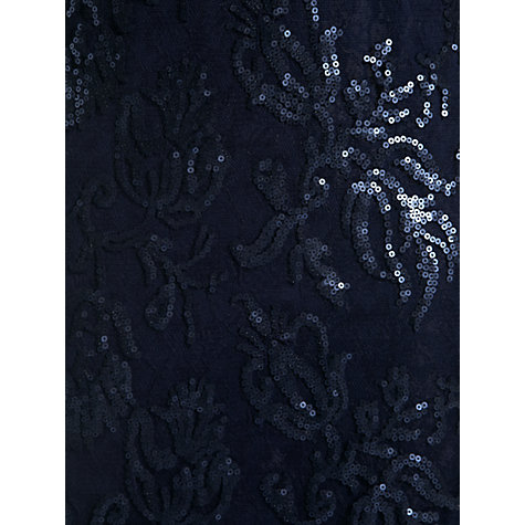 Buy Adrianna Papell Illusion Yoke Sheath Dress, Navy Online at johnlewis.com