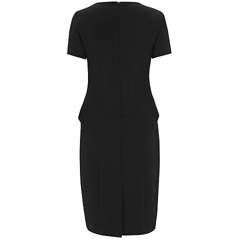Buy Havren Jersey Peplum Dress, Black Online at johnlewis.com