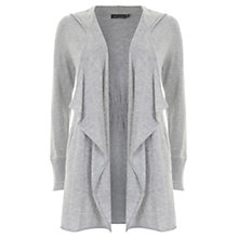 Buy Mint Velvet Hooded Cashmere Cardigan, Silver Online at johnlewis.com