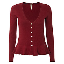 Buy White Stuff Girly Ada Cardigan, Burnt Red Online at johnlewis.com