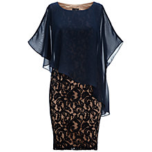 Buy Adrianna Papell Chiffon Drape Overlay Dress Online at johnlewis.com