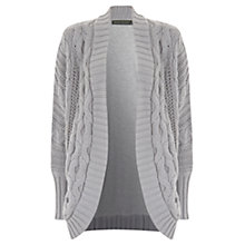 Buy Hygge by Mint Velvet Cable Cocoon Cardigan, Grey Online at johnlewis.com