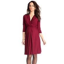 Buy Seraphine Jolene Maternity Dress, Claret Online at johnlewis.com