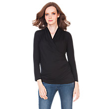 Buy Seraphine Melanie Maternity Top, Black Online at johnlewis.com