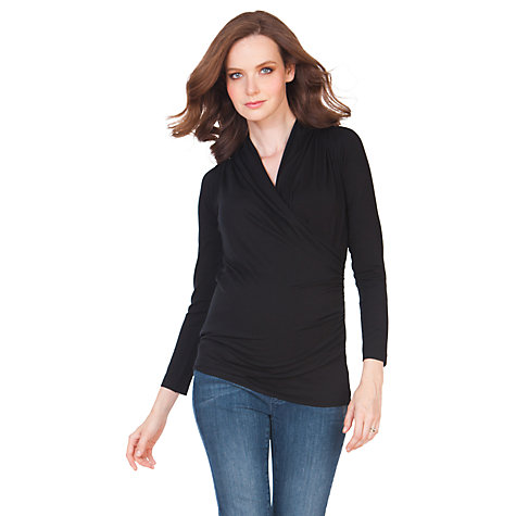 Buy Séraphine Melanie Maternity Top, Black Online at johnlewis.com