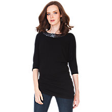 Buy Seraphine Mickey Maternity Top, Black Online at johnlewis.com