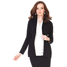 Buy Seraphine Myriam Maternity Jersey Blazer, Black Online at johnlewis.com