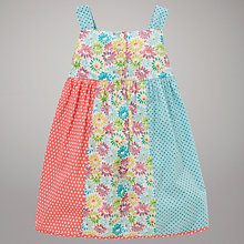 Buy John Lewis Floral Polka Dot Cotton Dress, Multi Online at johnlewis.com