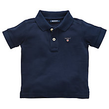Buy Gant Babys' Short Sleeve Pique Polo Shirt, Navy Online at johnlewis.com