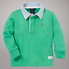 Buy Gant Long Sleeve Polo with Collar, Green Online at johnlewis.com
