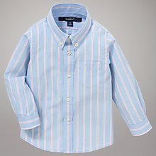 Buy Gant Boys' Long Sleeve Stripe Shirt, Blue Stripe Online at johnlewis.com