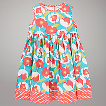 Buy John Lewis Bold Floral Print Dress, Multi/Coral Online at johnlewis.com