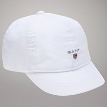 Buy Gant Toddlers' Twill Cap, White Online at johnlewis.com
