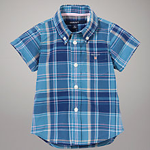 Buy Gant Short Sleeve Check Shirt, Blue Online at johnlewis.com