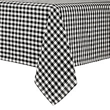 Buy John Lewis Check Tablecloth, Black Online at johnlewis.com