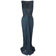 Buy Adrianna Papell Twist Drape Maxi Dress, Chacoal Online at johnlewis.com