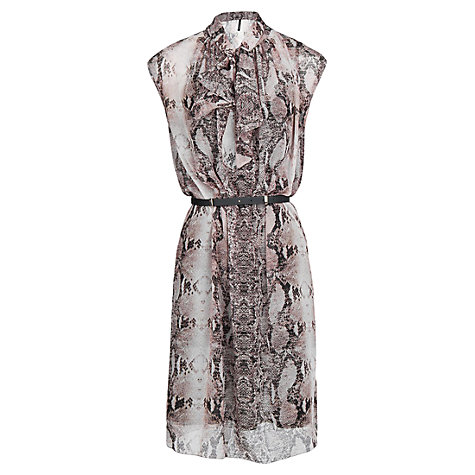 Buy Mango Snakeskin Print Dress, Natural White Online at johnlewis.com
