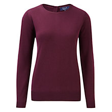 Buy Viyella Elle Berry Back Button Jumper, Berry Online at johnlewis.com