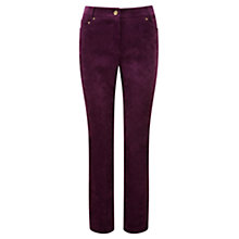 Buy Viyella Damson Petite Cord Trousers, Damson Online at johnlewis.com